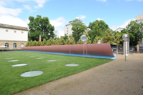 Colormaster F, an installation by Manuel Franke in the Städel Garten Frankfurt