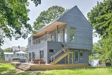 Wayne Turett's passive house, Turett Collaborative New York