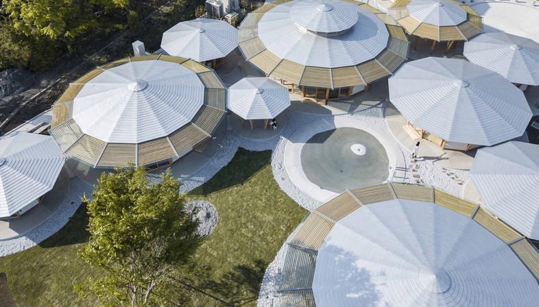 Muku Nursery School by Tezuka Architects organic shapes for ...