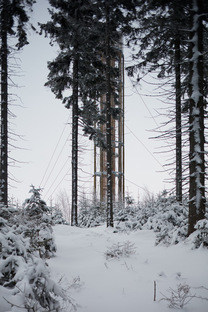 A lookout tower with a limited environmental impact