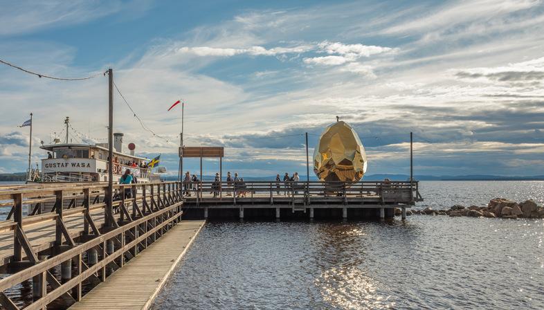 Solar Egg on Lake Siljan in Sweden