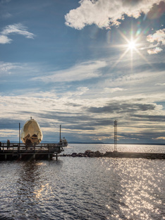 Solar Egg on Lake Siljan in Sweden