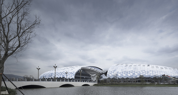 A new convention centre at the Zhejiang Geospatial Information Industrial Park, Deqing
