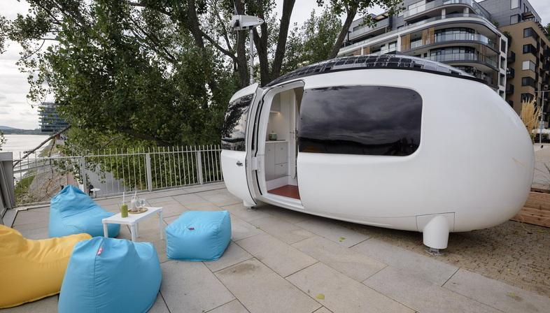 The Ecocapsule micro-home opens to the public in Bratislava