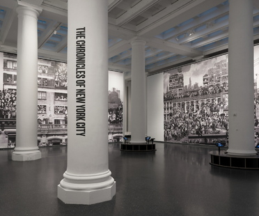 Exhibition JR: Chronicles at the Brooklyn Museum, New York