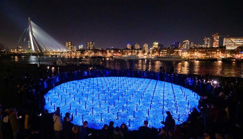 LEVENSLICHT, an installation by Studio Roosegaarde to commemorate Shoah