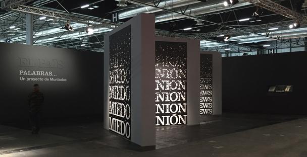 Installation of estudioHerreros for the Words project by Antoni Muntadas