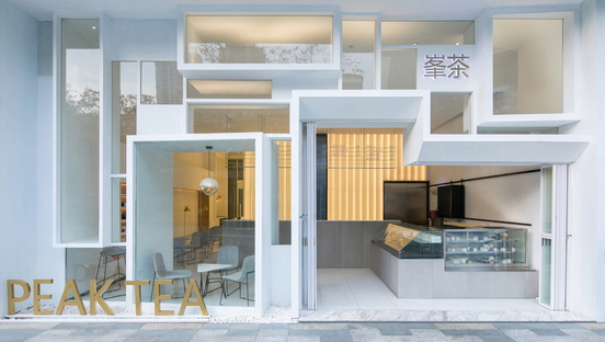 Peak Tea, a space spanning interior and exterior by ONEXN Architects