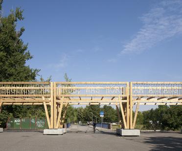 Colonnade, artwork by Observatorium in Chemnitz