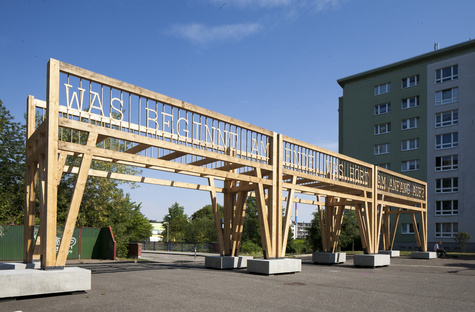 Colonnade, artwork by Observatorium in Chemnitz