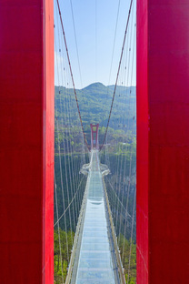 A glass bridge in China by UAD