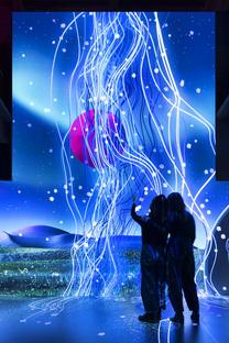 Magenta Moon, an interactive installation by flora&faunavisions in Berlin