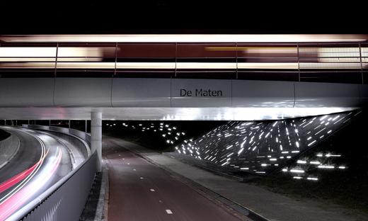 Light installation by Matthias Oostrik in Assen
