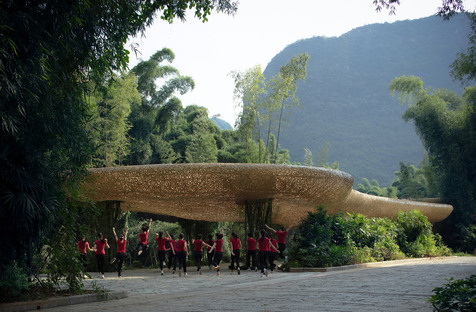 Stage and natural show in Yangshuo