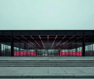 Neue Nationalgalerie Berlin visible in its revamped charm
