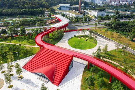 A park in the forest in Guangming, China