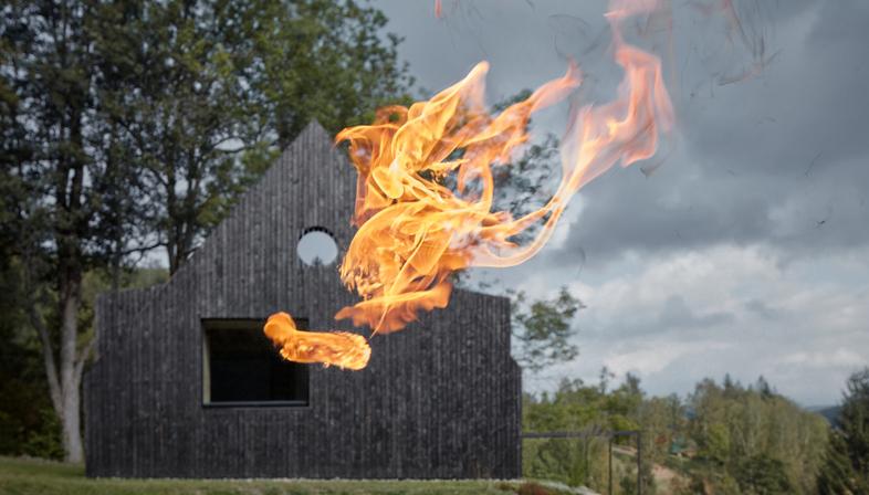 Mjölk Architects' Cottage Pod Bukovou