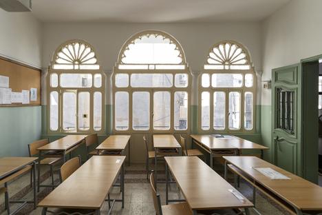Karim Nader, work on the restoration of ten schools in Beirut
