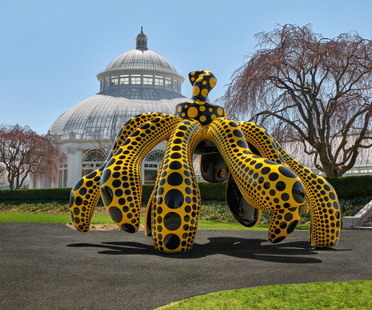 KUSAMA: Cosmic Nature, an exhibition at the New York Botanical Garden.
