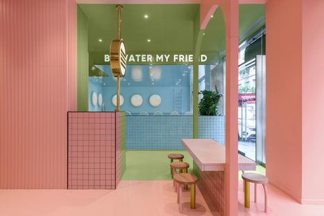 Masquespacio designs Bun, Turin: playful colours for a captivating interior design