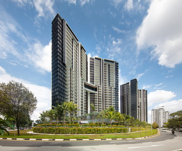 The sustainable design of ADDP Architects' new Seaside Residences towers in Singapore