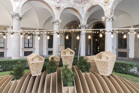 Peter Pichler Architecture, Vertical Chalets installation in Milan