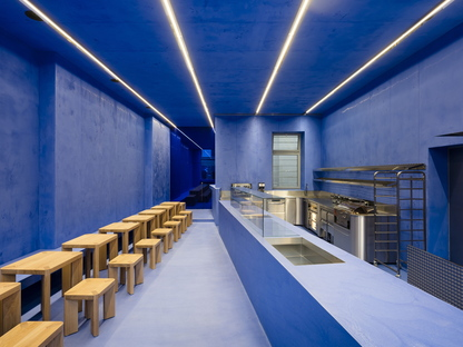 Gonzalez Haase AAS architecture firm designs Aera, a bakery in Berlin-Mitte, in Germany