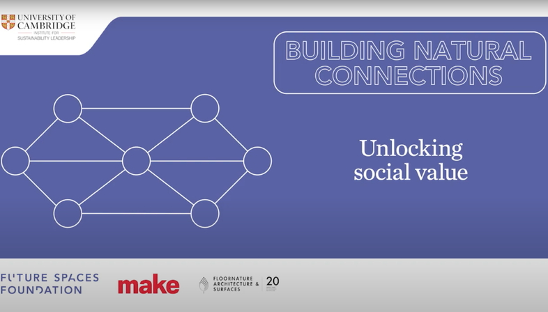 Building Natural Connections: Unlocking social value
