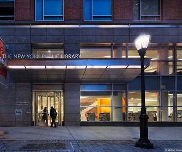 New York Public Library, Battery Park City Branch, designed by 1100:architect is about to be LEED Gold certified and has been presented with a 2012 Interiors Award for public spaces