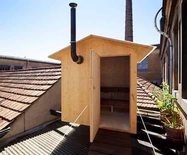 A sauna on the rooftops of Geneva. Bureau A.
