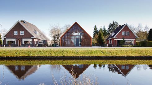 The Architect Referenced Traditional Shapes Of Country Houses Lining Canal In Dutch Town Bovensmilde To Come Up With A New
