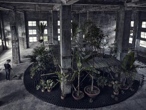 The garden the project for a temporary garden installation in hanoi