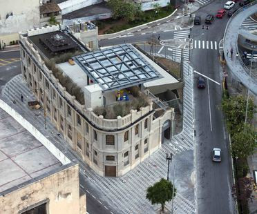 Red Bull Station in Sao Paulo, Brazil. Urban transformation.