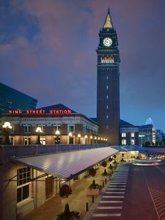 King Street Station in Seattle by ZGF Architects. LEED Platinum and AIA Top Honor 2014.