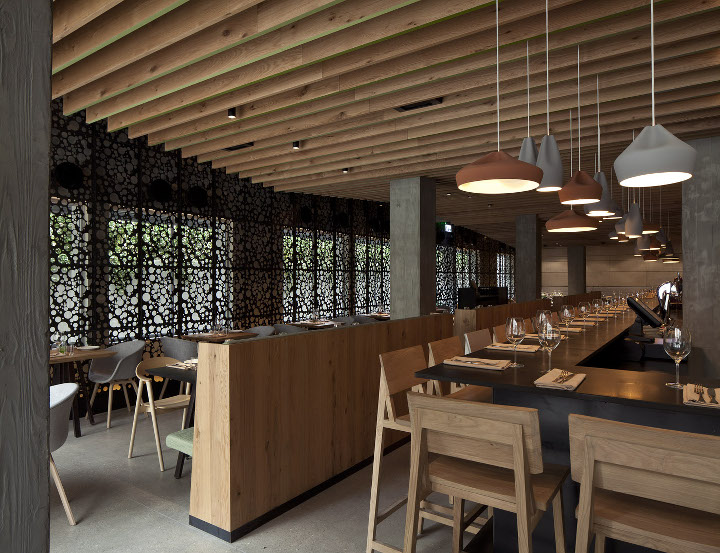 Their Holistic Design Roach Can Be Seen In Both Interiors And The Outside For Example Restaurant Façade Is Slightly Set Back Towards Interior