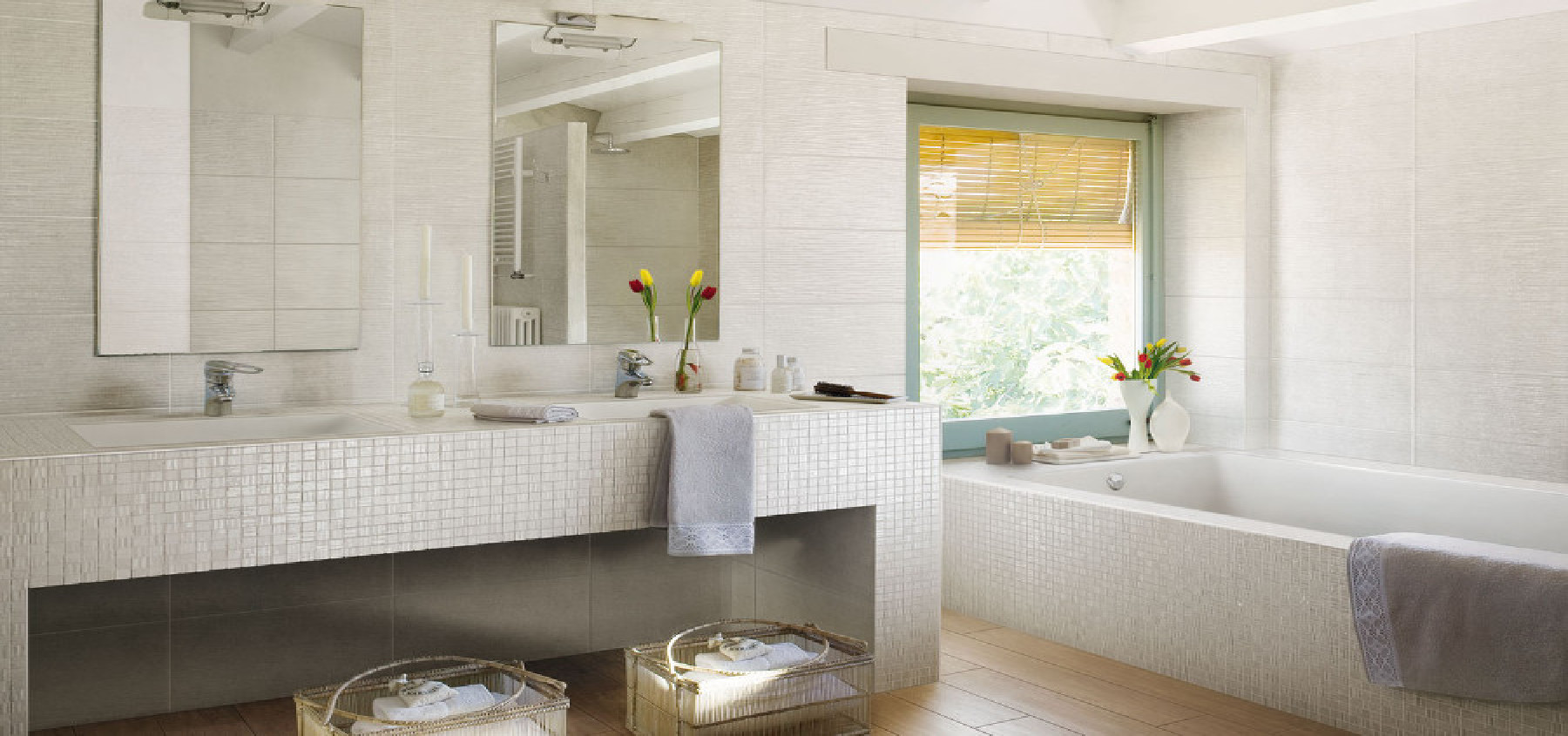 Ideas for floor and wall coverings in the bathroom | Floornature