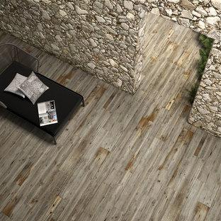 Wood effect floor tiles for imagining new interiors