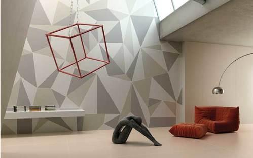 Large tiles that look like metal, indoor flooring