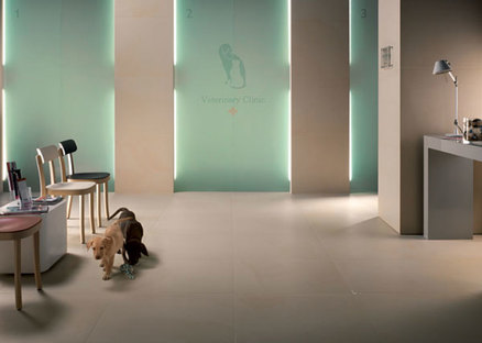 Active and porcelain tiles. Health and hygiene in places for relaxation