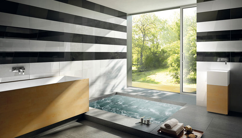 The ideal bathroom with porcelain surfaces Floornature