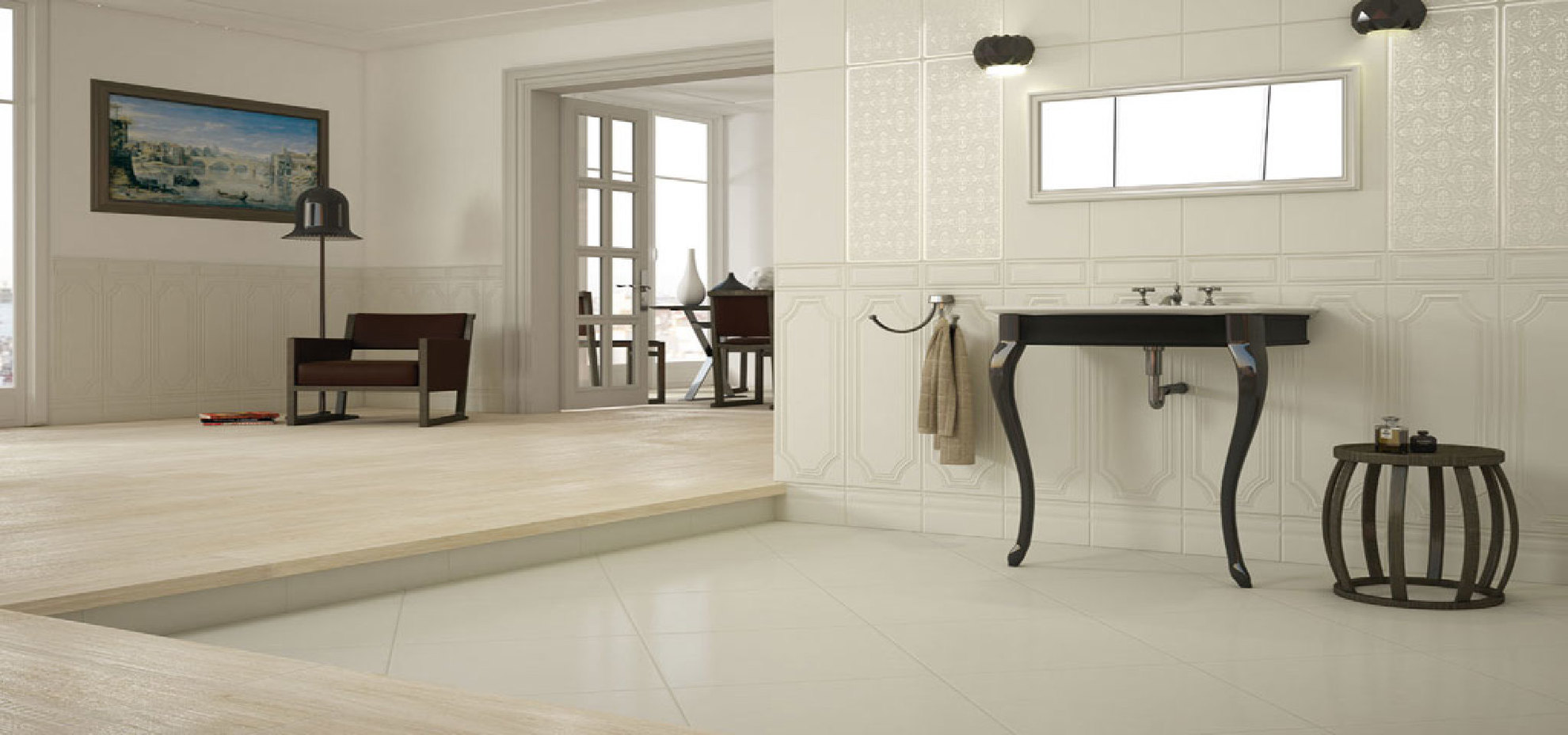 The ideal bathroom with porcelain surfaces | Floornature