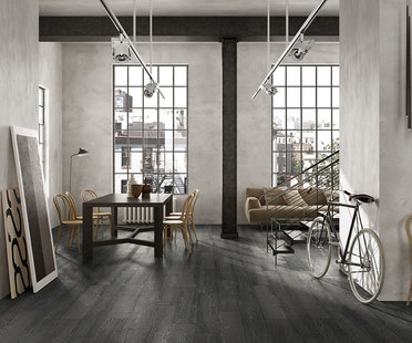 Wood-like porcelain tiles for indoor and outdoor use
