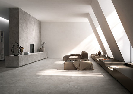 Large format Maximum porcelain stoneware tiles: a new design frontier
