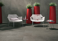 Nature and technology appear on Geologica porcelain stoneware surfaces