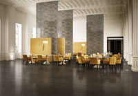 Marble-like tiles for residential and retail applications