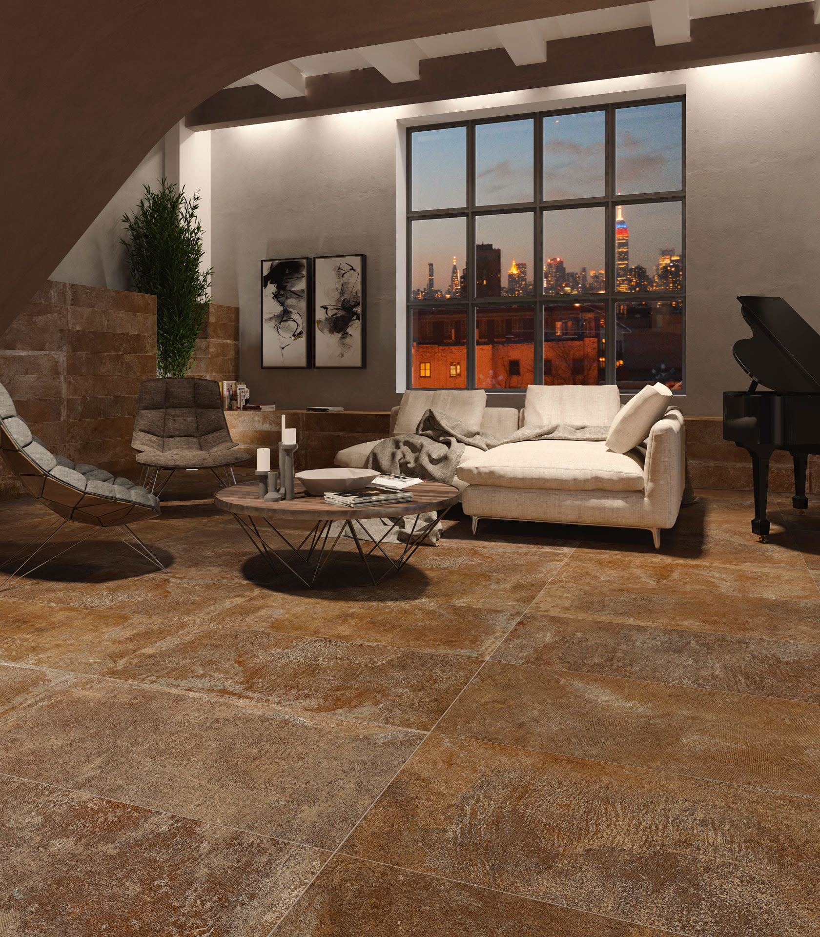 Stonepeak floors: ancient fascination, modern atmospheres
