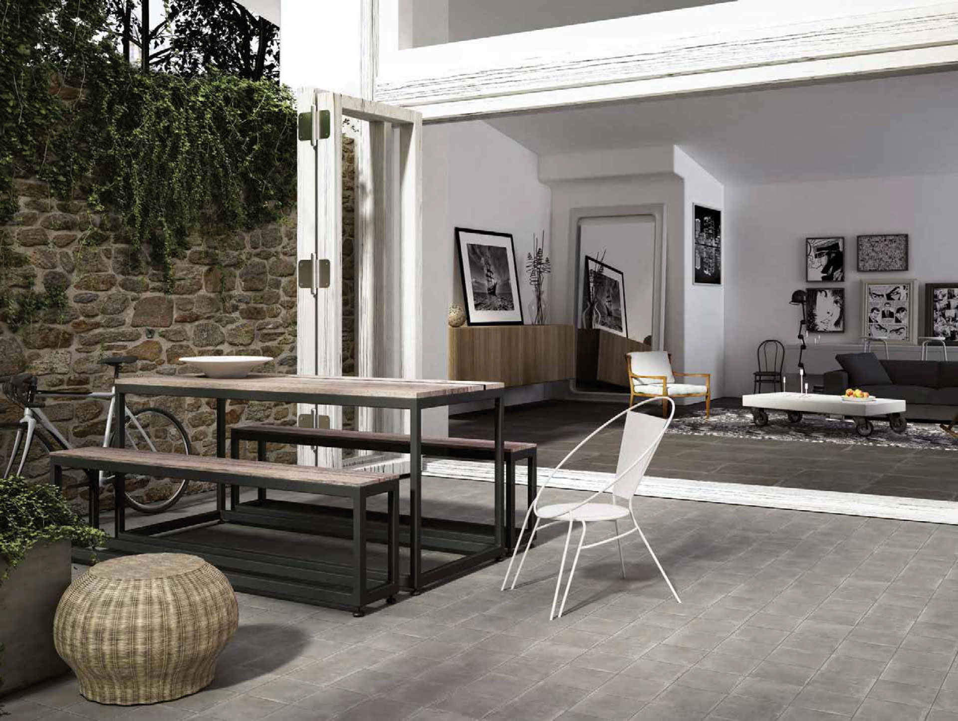 Flooring from the rural tradition in contemporary spaces