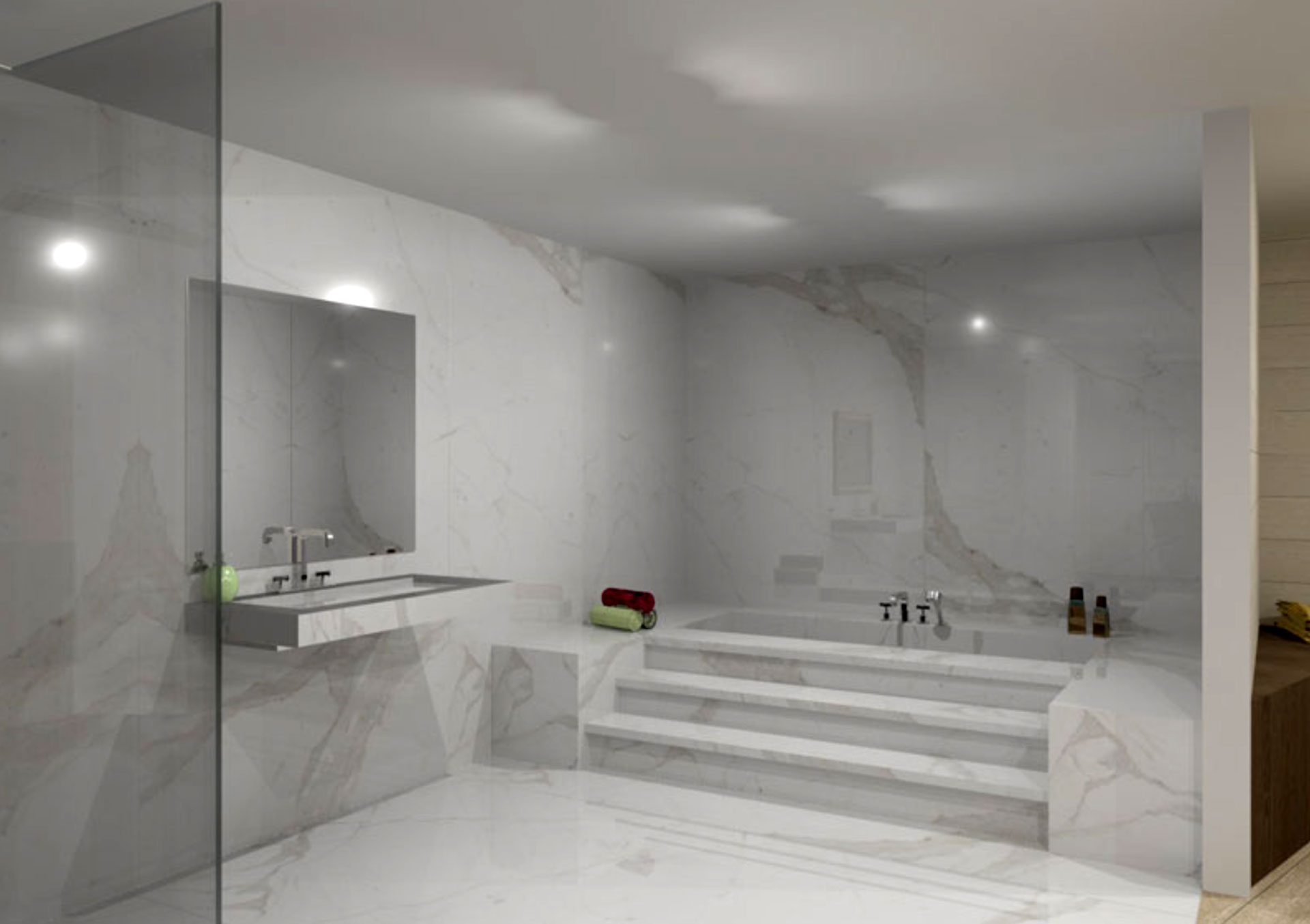 The Contemporary Bathroom With Stonepeak S Porcelain Floor