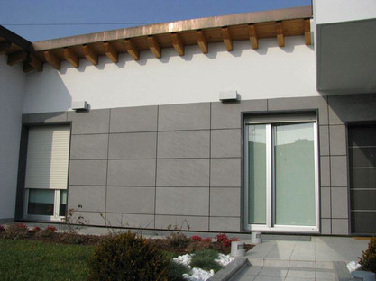 Ventilated walls for the home with porcelain tiles