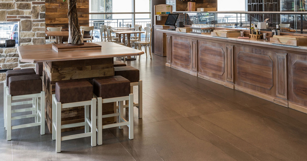 Surfaces for bars and restaurants: FMG's porcelain collections